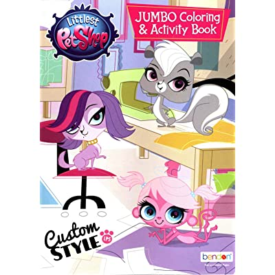 Hasbro Littlest Pet Shop Jumbo Coloring & Activity Book - Custom Style: Toys & Games