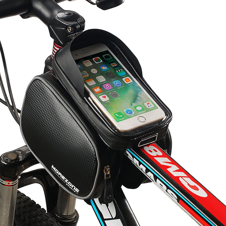 Support de t/él/éphone pour iPhone XS Max XR X 8 7 6S 6 Plus Samsung Smartphones inf/érieurs /à 6,2 Support de t/él/éphone de v/élo MOZOWO Sacoche de Guidon de v/élo /étanche