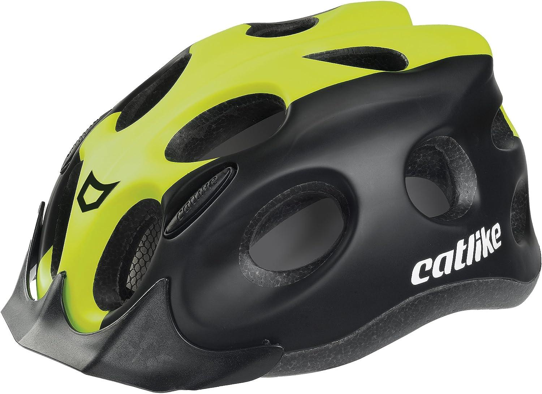 Catlike Tiko Casco de Ciclismo, Unisex Adulto, Negro/Verde Lima, M ...