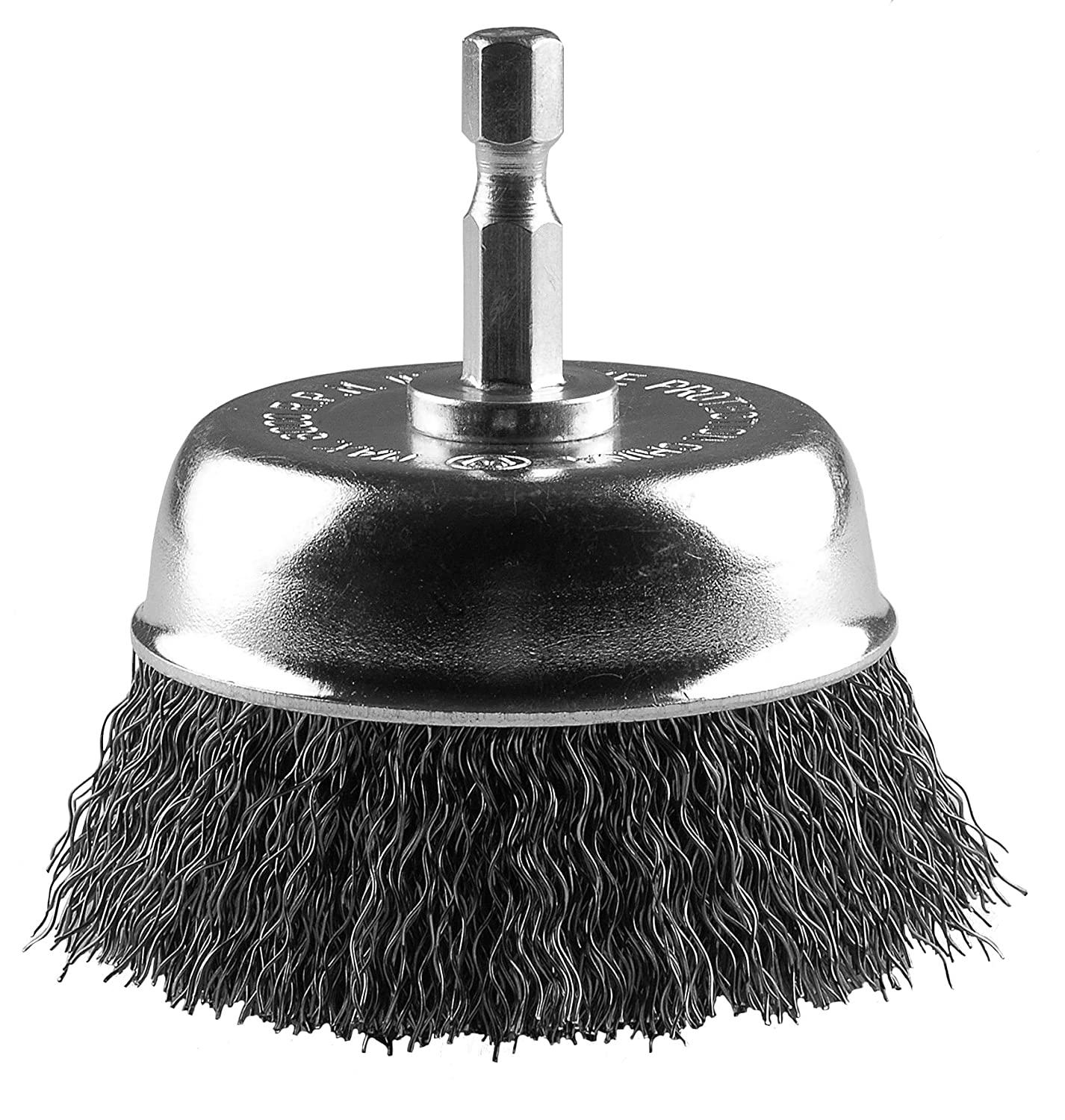 Hot Max 26218 3-inch Mounted Cup Brush, 1/4-Inch Hex Shank, 0.12-inch Wire