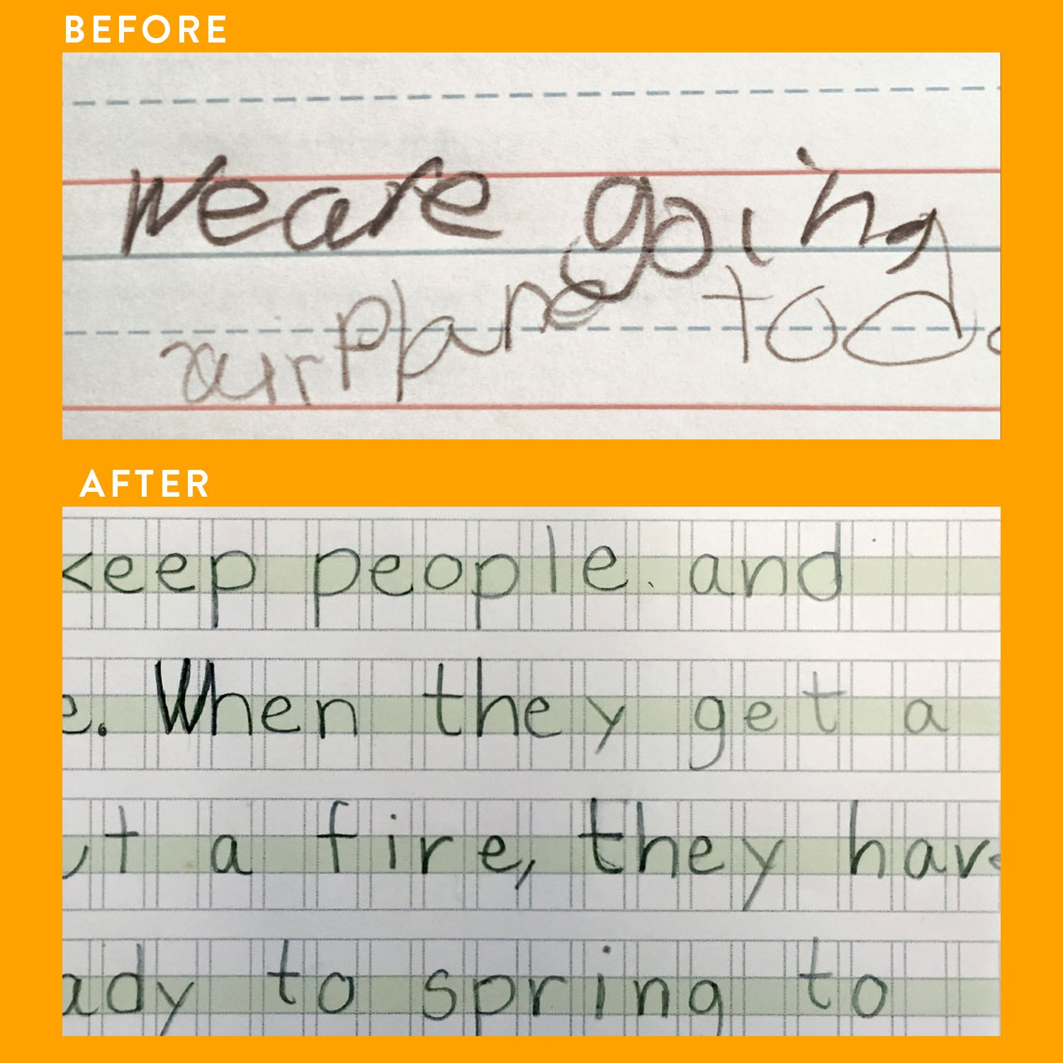 Channie's Visual Handwriting Workbooks 2 Pak! for 1st - 3rd grades 80 pages 8 x 11.5 Quick Improvement with visual guidance.