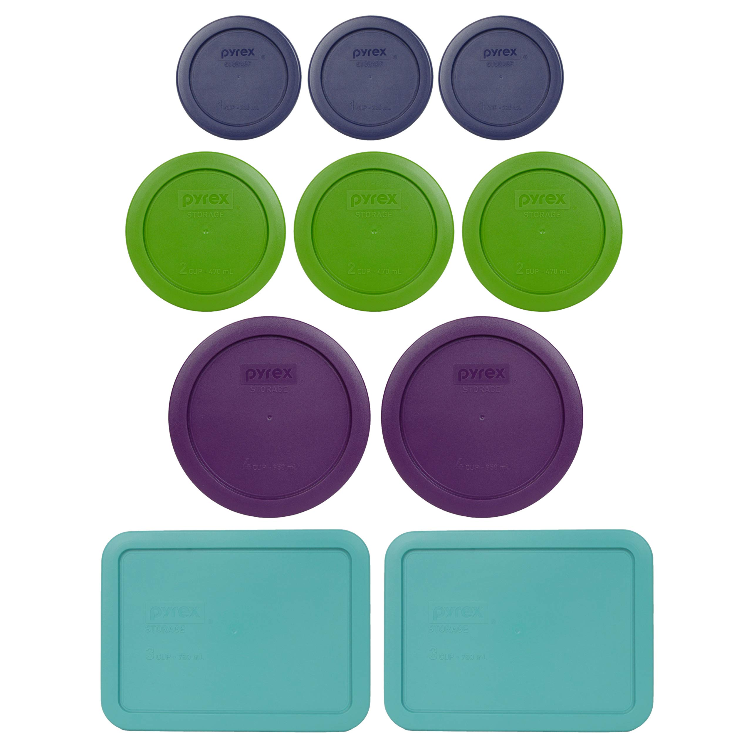 Pyrex Simply Store Storage Set (Replacement lids for 20-piece set (10 lids) by Pyrex