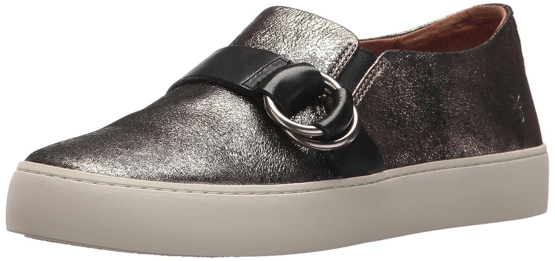 FRYE Women's Lena Harness Slip on Fashion Sneaker B01NCOLIJS 9 B(M) US|Gold/Metallic Leather