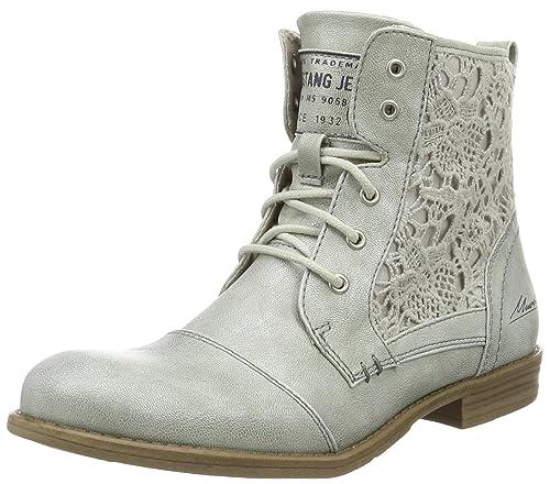 6e4459dc8874 Mustang Damen 1157-546-21 Combat Boots, (21 Silber), 40 EU  Amazon ...