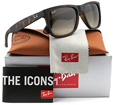 75893f1476 Amazon.com  Ray-Ban RB4165 Justin Sunglasses Havana w Brown Gradient  (710 13) RB 4165 71013 55mm Authentic  Shoes
