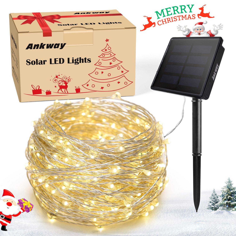 Cadena Luces Solares LED Modos Ankway M Hilos de Alambre de Cobre