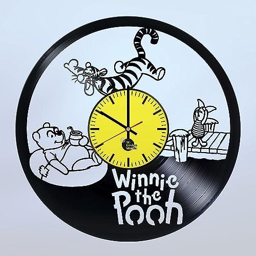Amazon.com: Handmade Vinyl Wall Clock Winnie Pooh Honey Vinyl Record ...