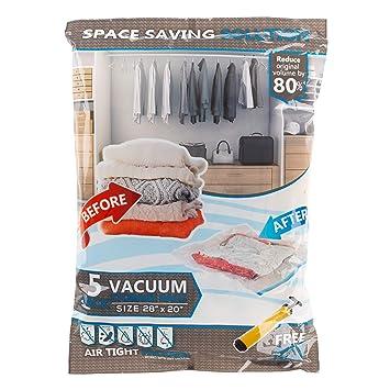 Amazon.com: Lavish Home 5 bolsas de almacenamiento al vacío ...