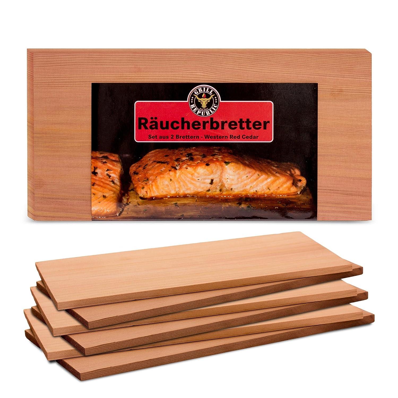 Griglie fumanti di alta qualità per grigliare l'aroma affumicato Piastre grigliate di puro cedro di legno di cedro rosso occidentale I Davvero delizioso per pesce, carne e verdure da Grill Republic I set di 6