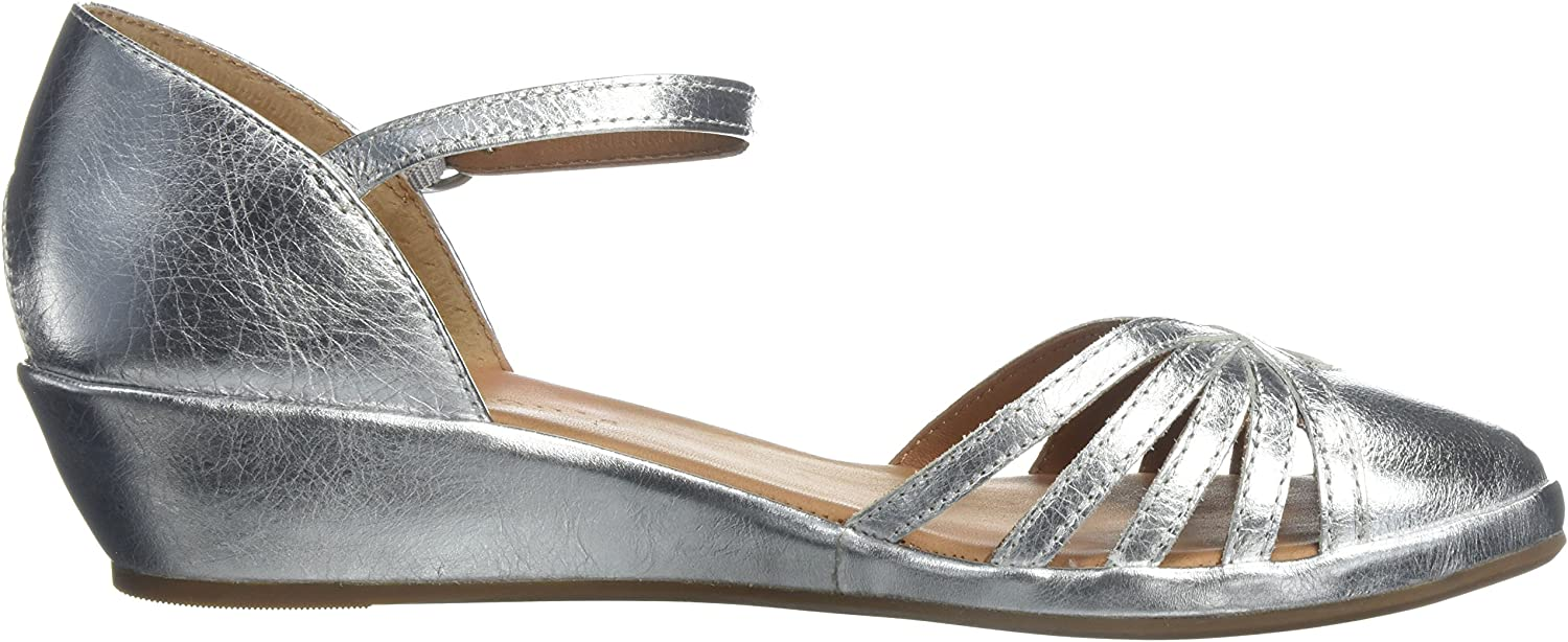 Gentle Souls Womens Naira Demi Wedge Sandal with Caged Toe
