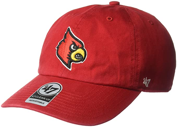 cheap for discount 6566e 49e72  47 NCAA Louisville Cardinals Clean Up Adjustable Hat, One Size, Red