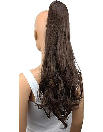 PRETTYSHOP Voluminosa corrugado peluca peluca trenza cola de caballo Cola de caballo fibra sintética 60cm de