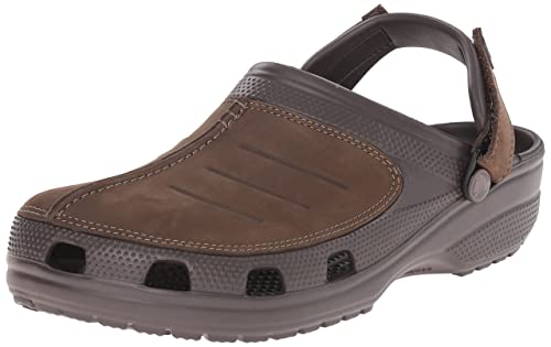 07105f870 crocs Men s Yukon Mesa Clog M Brown Leather Clogs-M15 (203261-22Z ...