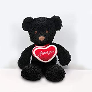 "product image for Bears For Humanity Black 10"" with I Love You Heart"