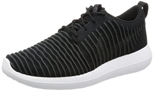 f23b036d22c85 Nike Mens Roshe Two Flyknit Black Dark Grey White Volt Running Shoe 9 Men  US  Buy Online at Low Prices in India - Amazon.in