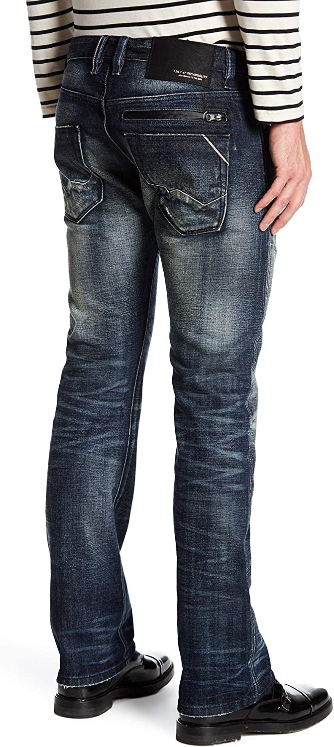 B07G9PLMSQ Cult of Individuality Men\'s Rebel Straight Selvedge in Night Shadow Destroyed - Size 30 x 34 71jql2BPO1iL.UL1500_