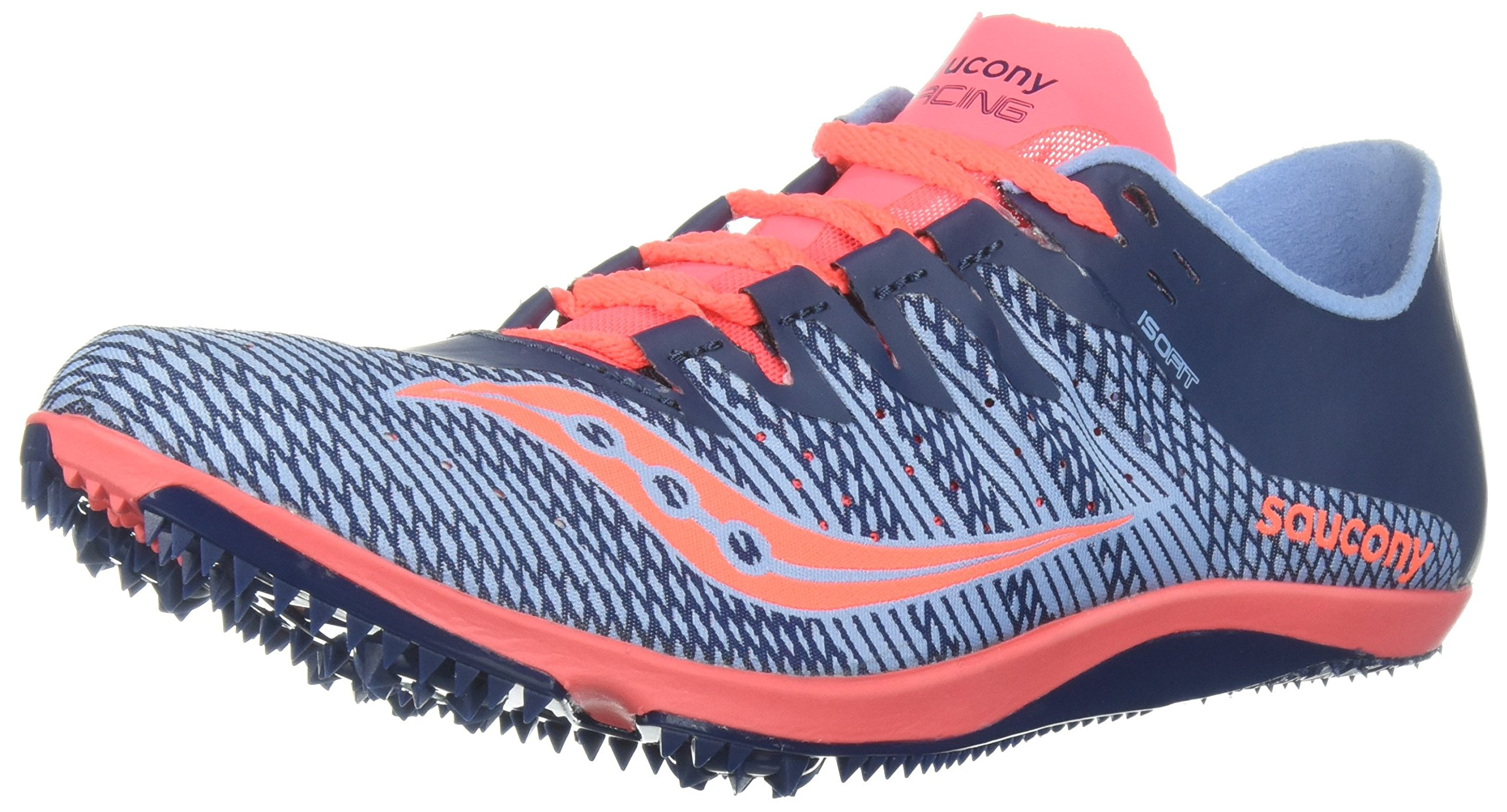 Saucony Women's Endorphin 2 Track and Field Shoe, Blue/Pink, 6.5 Medium US