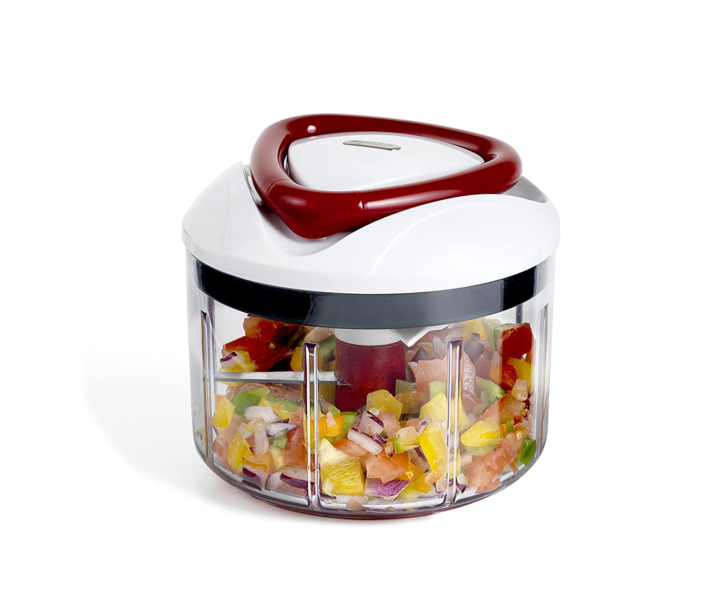 Zyliss Easypull Manual Food Processor  Ml White Grey Red