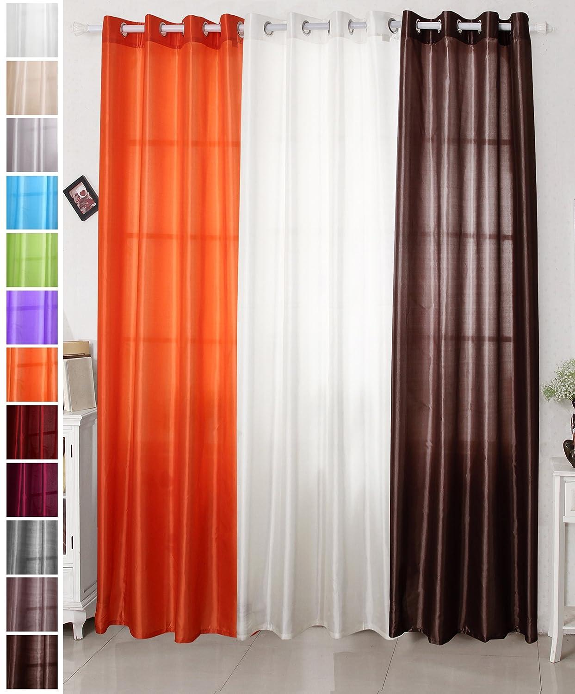 Woltu #125 gardine vorhang dekoschal, mit Ösen, halb blickdicht ...