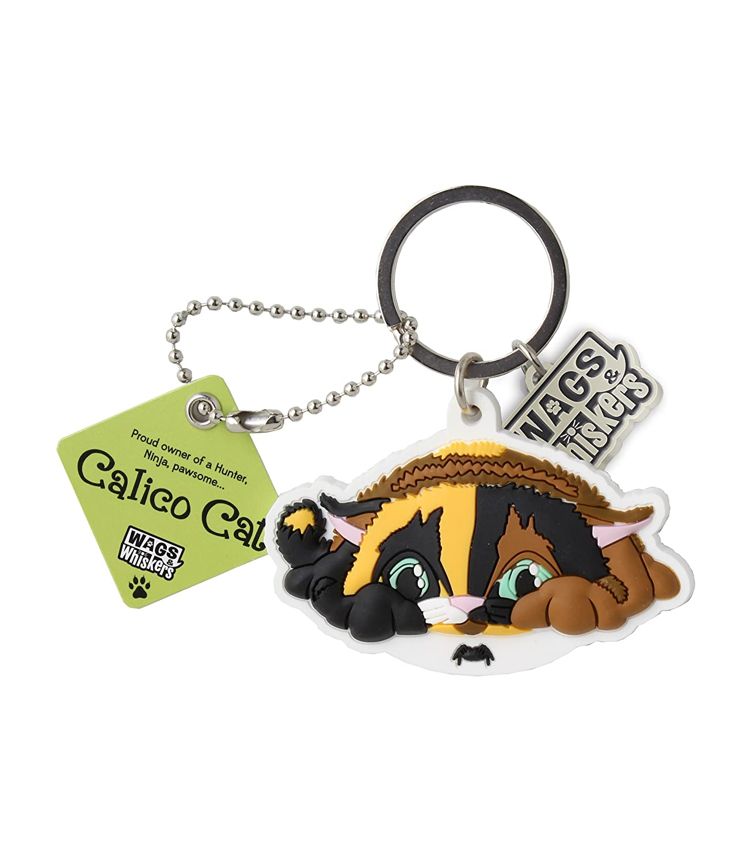 Wags and Whiskers Calico Cat (Ninja) - Llavero con soporte ...