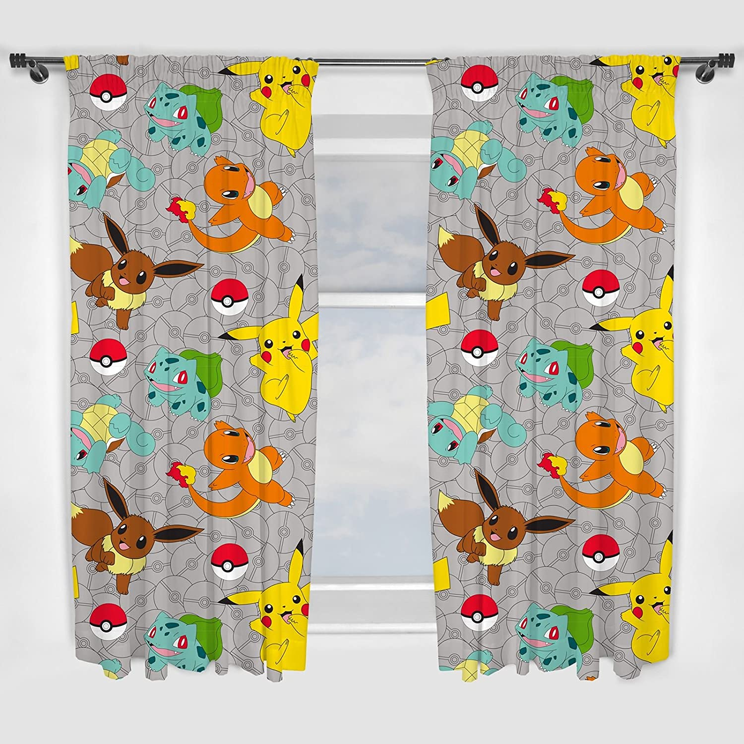 Green indian curtains - Pokemon Catch 54 Inch Curtain Set