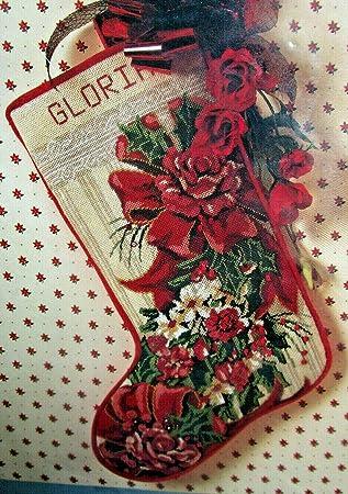 Needlepoint Christmas Stocking Kit.Amazon Com Victorian Roses Something Special Needlepoint