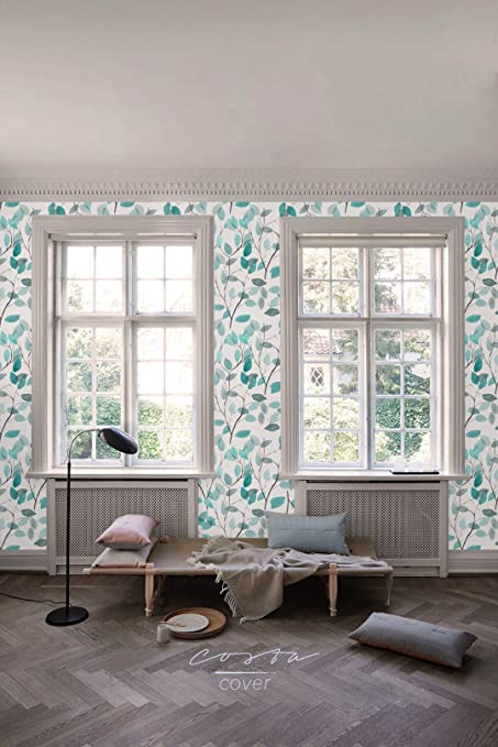 Costacover Boho Floral Removable Wallpaper Sample With