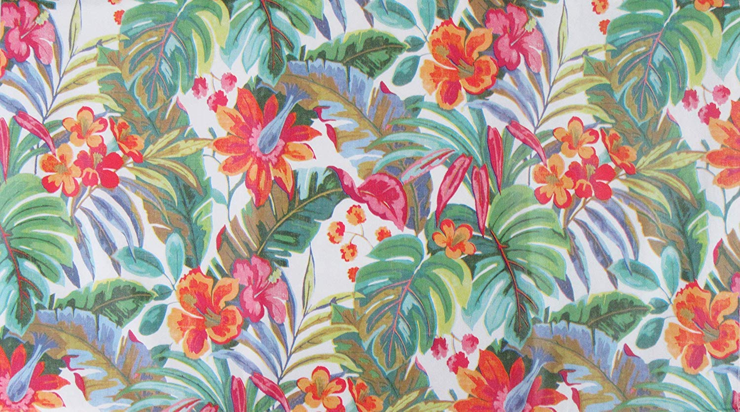 Summer Fun by Elrene Tropical Rainforest Expressions Vinyl Flannel Back Tablecloth with Zipper Umbrella Hole (70'' Round)