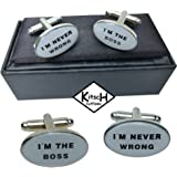 I'm The Boss / I'm Never Wrong - Gifts for a boss - Gift Boxed