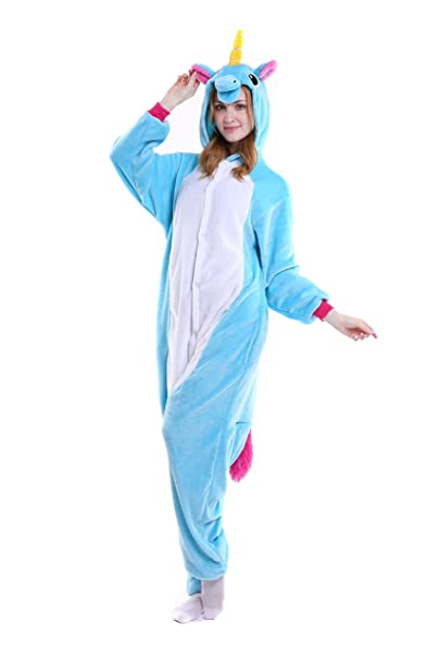 Unicornio Kigurumi Pijamas - Sakady Animal Cosplay Traje Unisex Niños Adultos Onesie Ropa de dormir