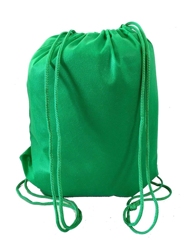 スーパー値pack-200パック明るい色巾着バッグ、Junior Cinchパック、不織布バックパック  ケリーグリーン B076X65G3G