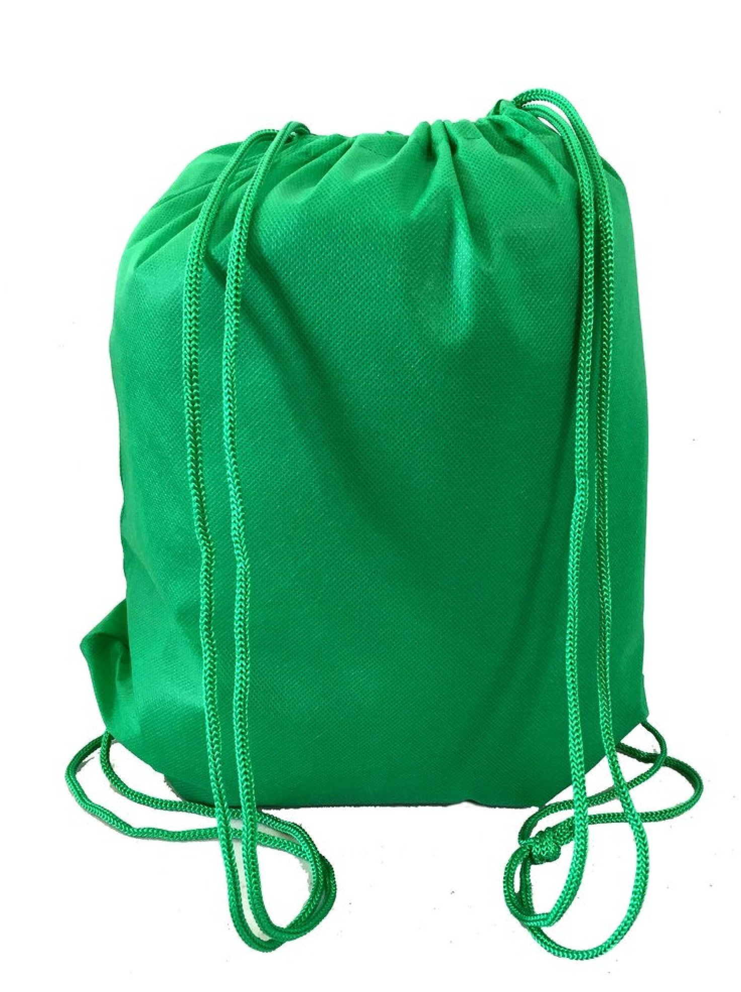 Super Value Pack- 200 Pack Mix Color Drawstring Bags, Small Size Junior Cinch Packs, Non-Woven Backpack (Kelly Green)