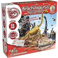 Science4you - Brachiosaurus Fossil Escavation - Juguete Cientifico y Educativo, Incluye Fosiles, Dinosaurios y un Libro…
