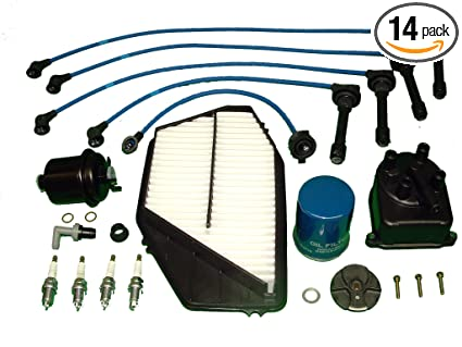 Tune Up Kit Includes Distributor Cap and Rotor all filters NGK plugs and Ignition Wires Compatible