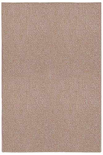 Ambiant Saturn Collection Pet Friendly Indoor Outdoor Area Rugs Beige – 3 x5