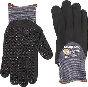 ATG 34-845/M MaxiFlex Endurance - Nylon, Micro-Foam Nitrile 3/4 Grip Gloves - Black/Gray - Medium - 12 Pair Per Pack