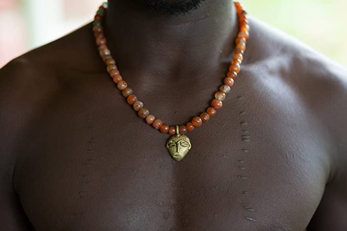amazon com african men pendant necklace african necklace african