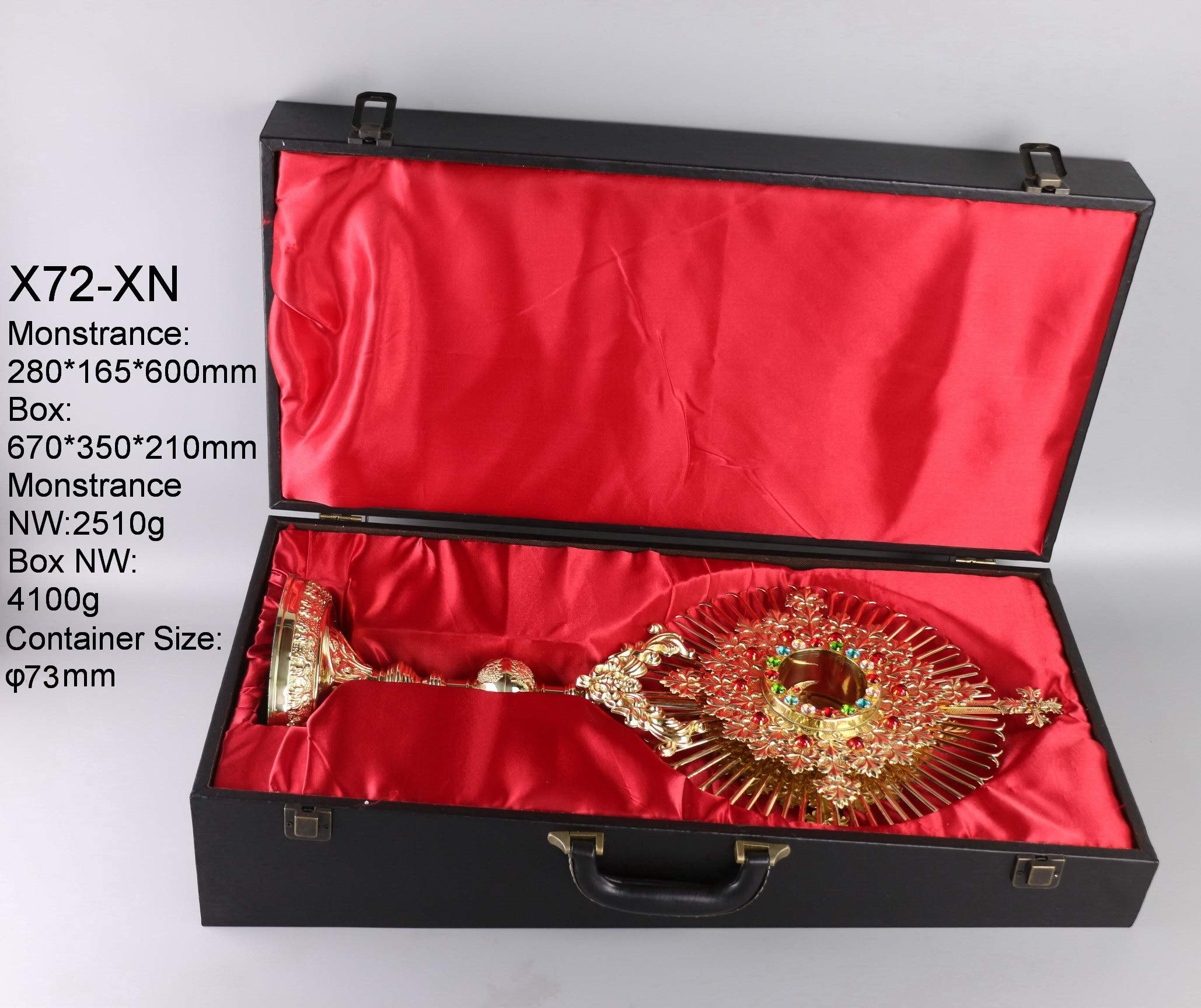 Rare Fine Monstrance 23 3/5'' High with Case, Beautiful and Affordable! X72-XN
