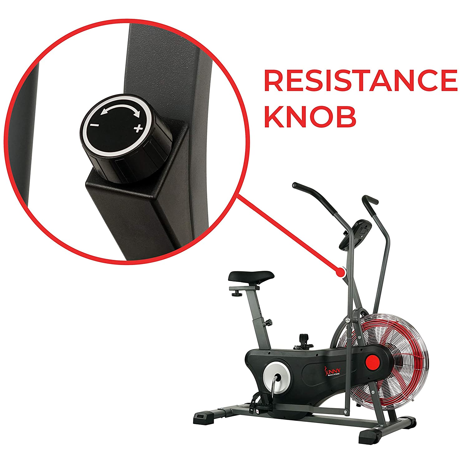Amazon.com : Sunny Health & Fitness Air Bike Trainer, Fan Exercise Bike with Unlimited Resistance, Cross Training for Home - SF-B2640 : Sports & Outdoors