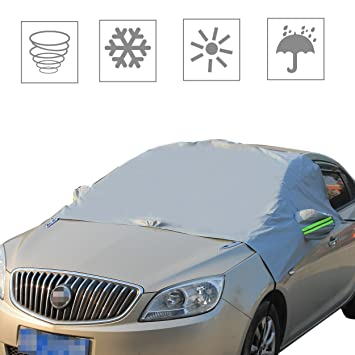 ... de lluvia Parasol impermeable Capucha con reflectante correas de calentamiento para la mayoría de vehículos camiones limpiaparabrisas Espejos