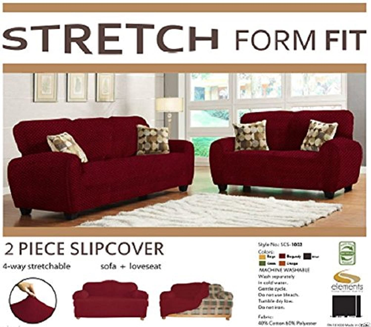Amazon.com: Orly\'s Dream 2 pcs Stretch Form Fit Slipcovers ...