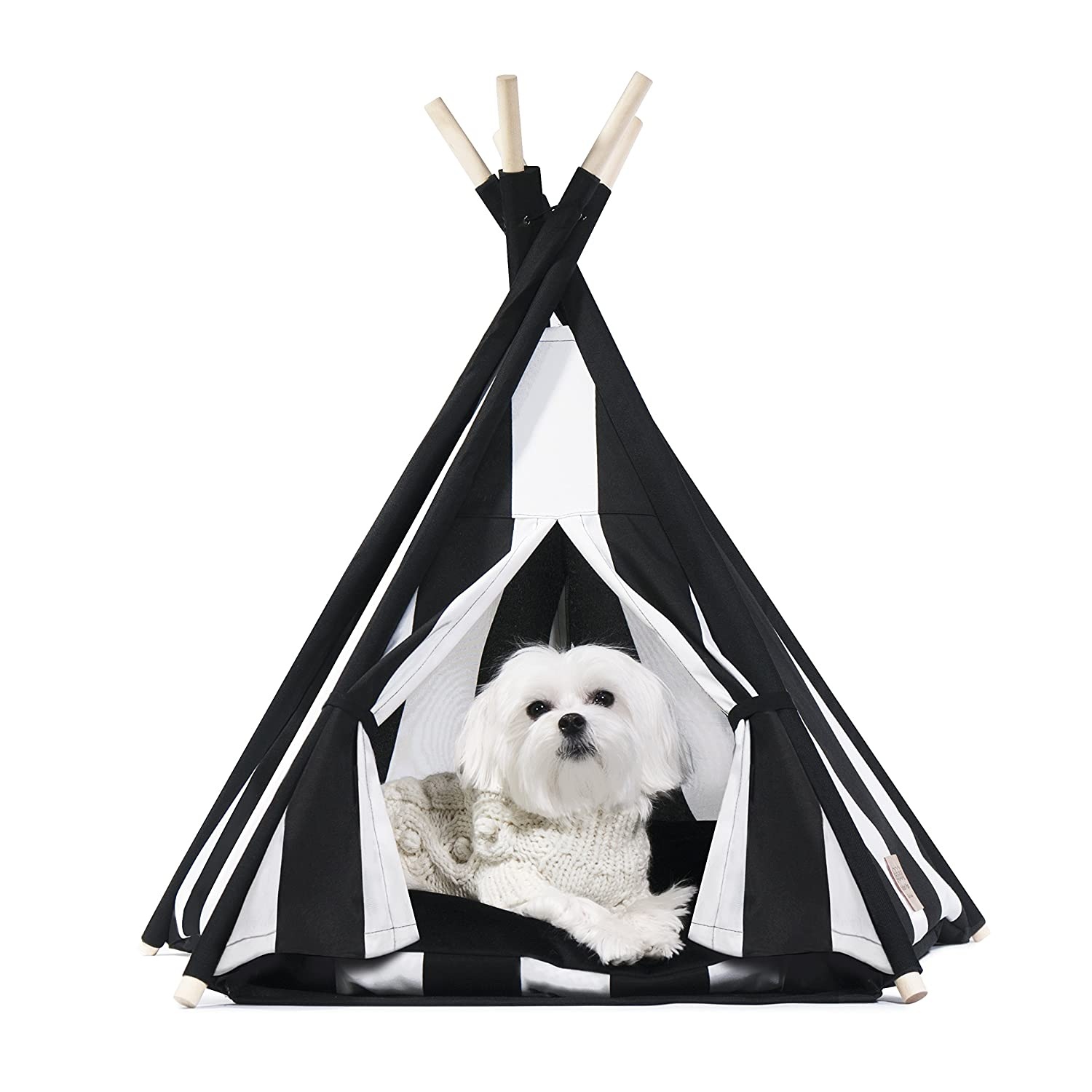 luxe goth dog house black and white