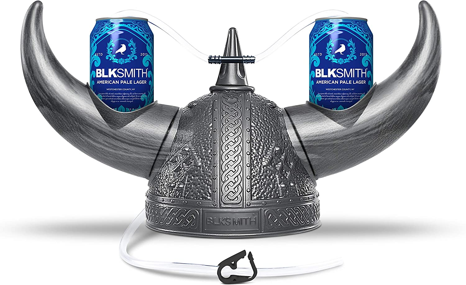 """BLKSMITH Viking Drinking Helmet Guzzler, 2 Soda Can Holders