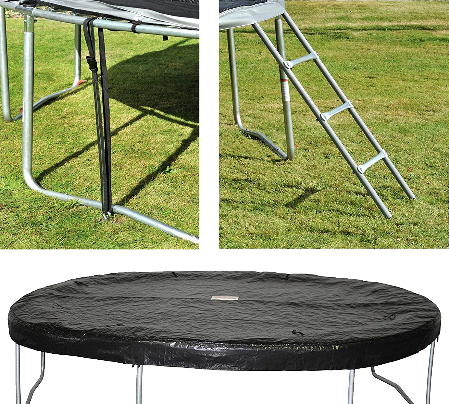 Ladder /& Anchor Kit 10ft Trampoline Accessory Kit Includes Cover