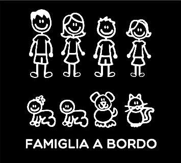 Pegatinas Familia Juego Completo Familia A Bordo Color Blanco Family Stickers Pegatinas Familia Para Cristal Coche