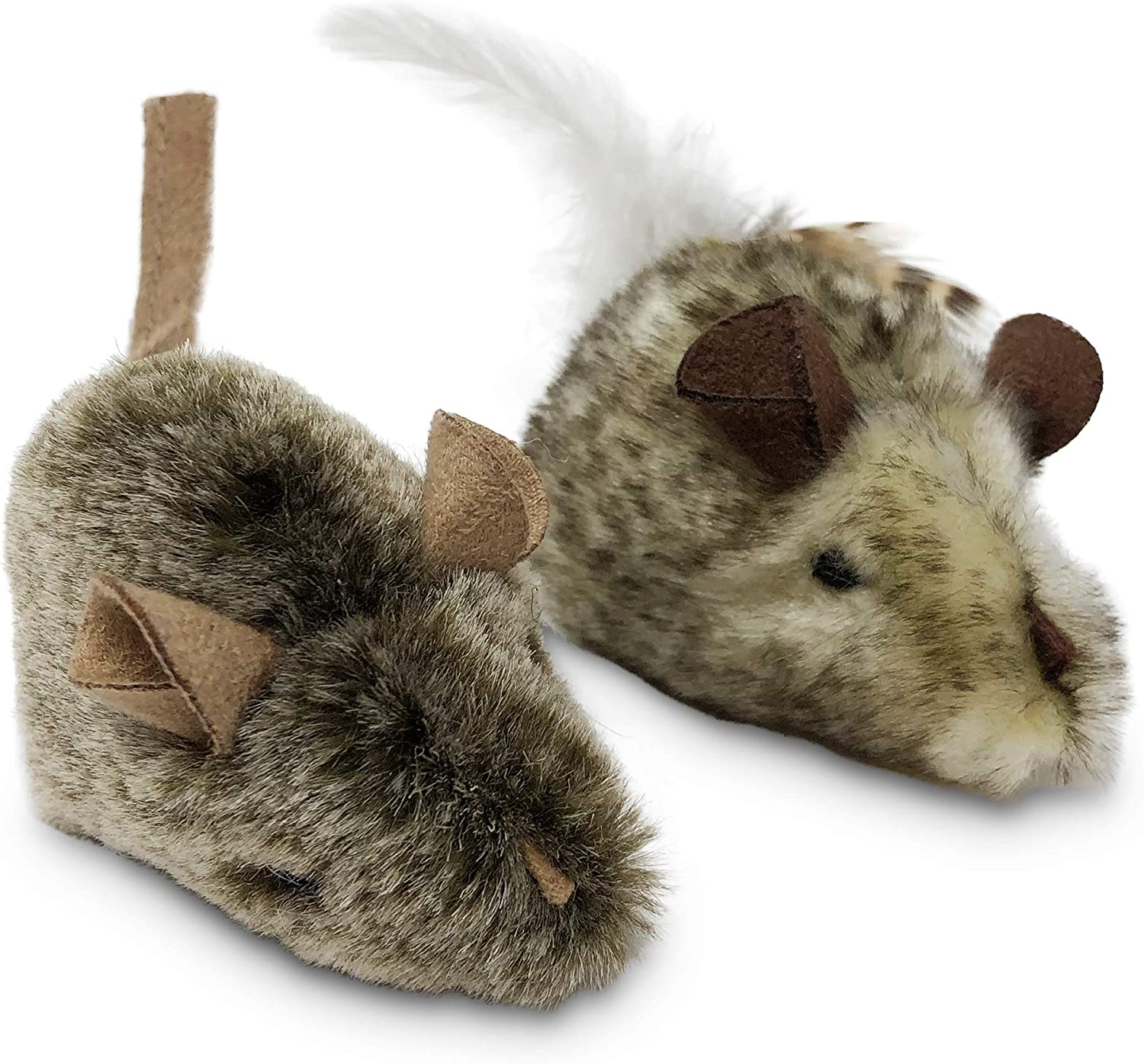 OurPets Play-N-Squeak Twice the Mice Cat Toy, 2pc (Interactive Cat Toy, Catnip Toy, Catnip Toys for Cats, Real Mouse Electronic Sound, Catnip, Cat Toys) : Pet Mice And Animal Toys : Pet Supplies