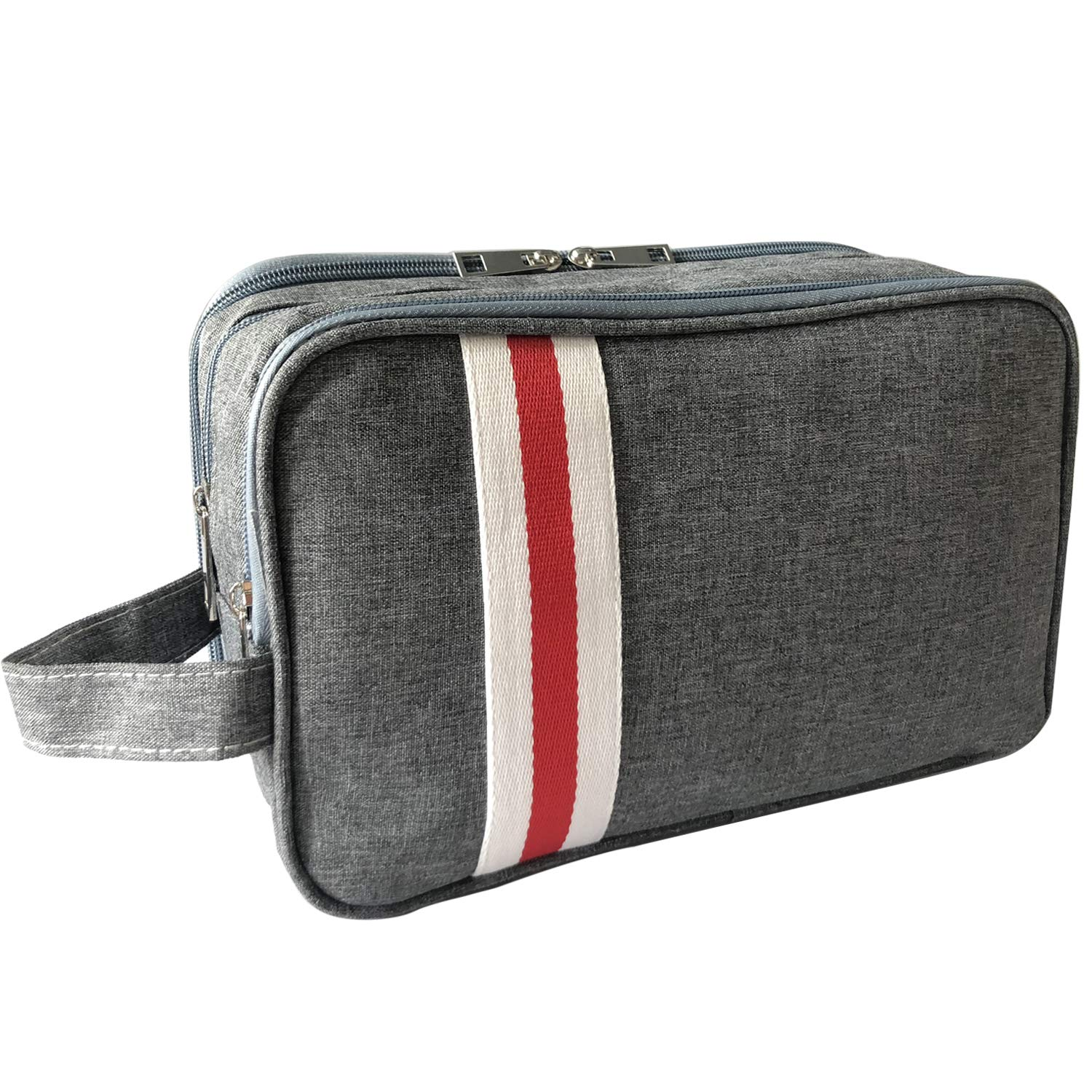 Travel Toiletry Bag, Toiletry Bag for Women Waterproof Wash Bag for Travel 3 Layers Portable Travel Hygiene Bag with Waterproof Isolation Compartment Cosmetic Travel Bags for Women Gray