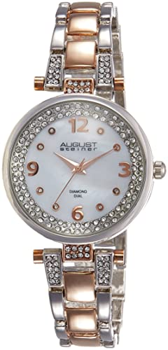 De agosto de Steiner de las mujeres Marquess analógica de cuarzo reloj con aleación de pulsera