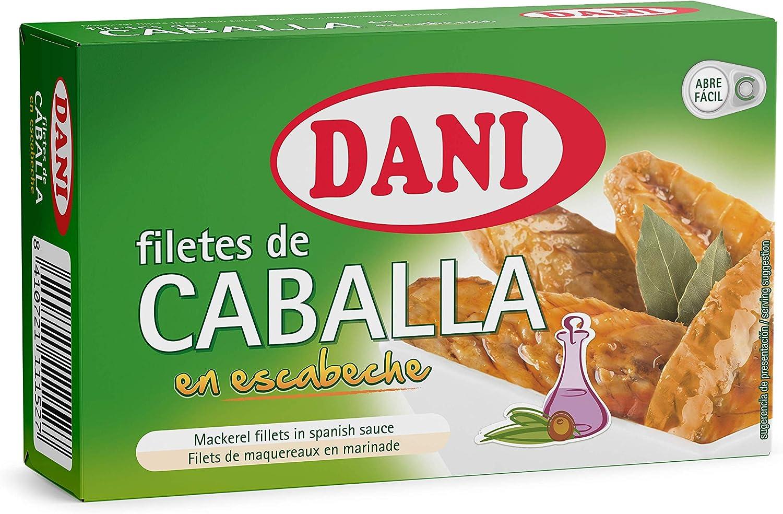 Dani - Caballa (filetes) en escabeche - Pack 12 x 115 gr.