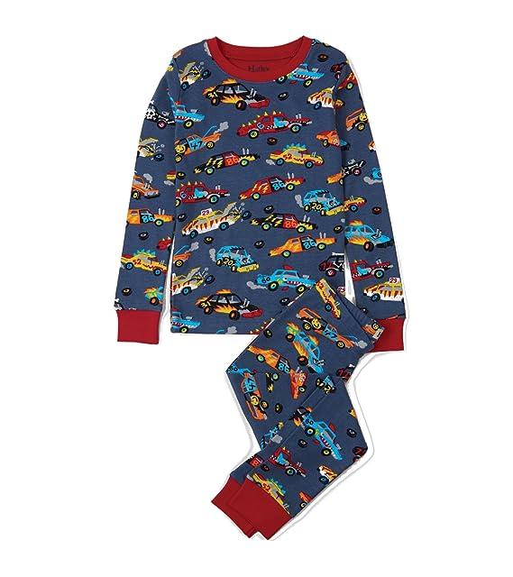 Hatley PJACARS, Pijama para Niño 2 piezas. Algodón Orgánico. Color 410-Marino